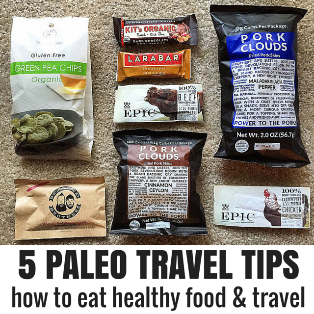 Paleo travel tips (5 ways to eat healthy, real food while traveling) #paleo #paleotravel #cleaneating #paleomeals...definitely need this as much as I travel!